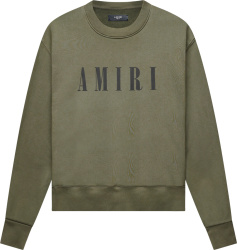 Amiri Dark Green Core Logo Sweatshrit