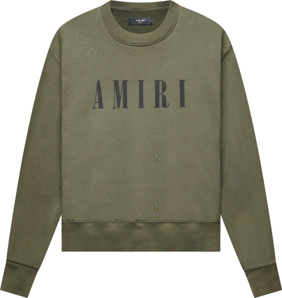 Amiri Dark Green Core Logo Sweatshrit