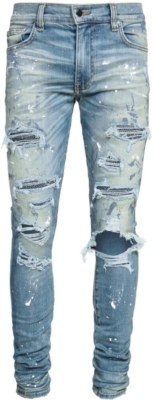 Amiri Destroyed Crystal Underpatch Jeans