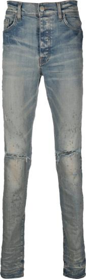 Amiri Dirty Indigo Shotgun Jeans
