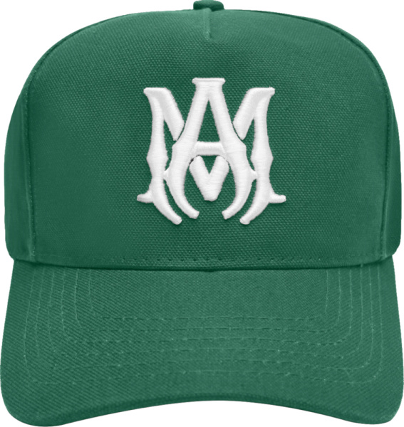 Amiri Green And White Canvas Ma Hat