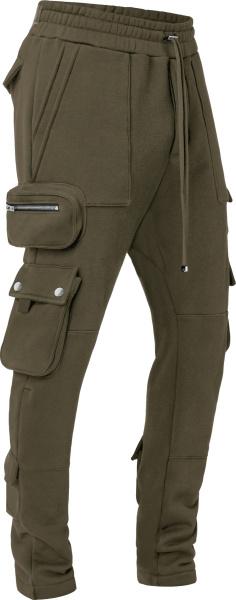 Amiri Green Tactical Cargo Sweatpants