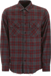 Amiri Grey And Red Flannel Shirt
