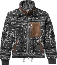 Amiri Grey Bandana Fleece Jacket