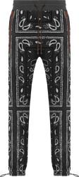 Amiri Grey Bandana Fleece Pants