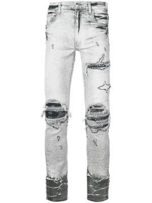 Amiri Grey Ripped Jeans Worn By 2 Chainz