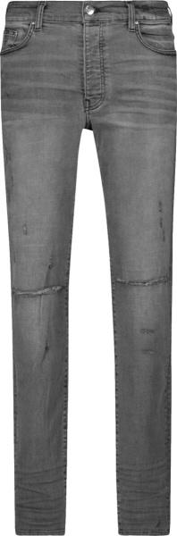 Amiri Grey Slash Jeans