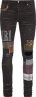 Grunge Patch Black Denim Jeans