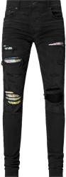 Amiri Hawiian Patch Black Rosebowl Jeans