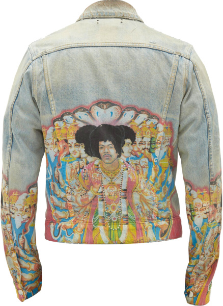 Amiri Hendrix Print Denim Jacket