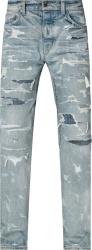 Amiri Indigo Bruise Jeans