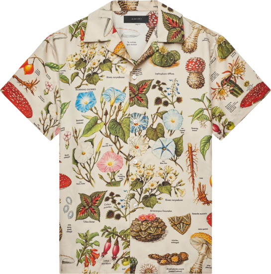 Amiri Ivory And Multicolor Psychedelic Print Short Sleeve Shirt