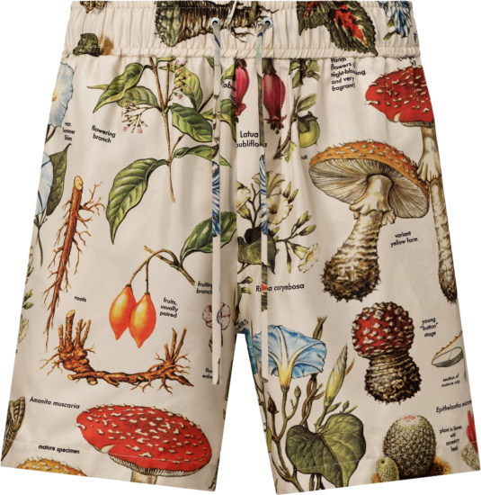 Amiri Ivory And Multicolor Psychedelic Print Shorts