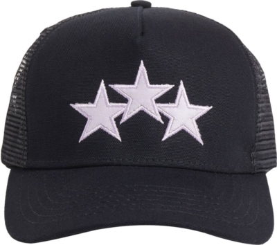Amiri Lavendar Star Black Trucket Hat