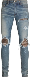 Amiri Leopard Underpatch Jeans