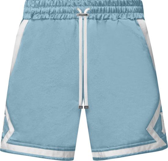 Amiri Light Blue And White Ma Logo Shorts