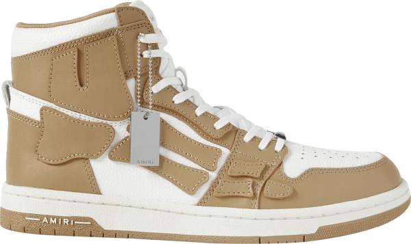 Amiri Light Brown Skel Top High Top Sneakers