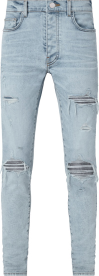 Amiri Light Vintage Indigo And Iridescent Underpatch Mx1 Jeans