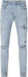 Amiri Light Vintage Indigo And Paint Splatter Mx1 Jeans