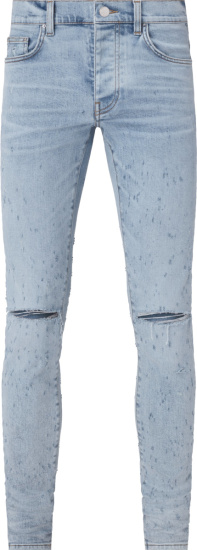 Amiri Light Vintage Indigo Shotgun Jeans
