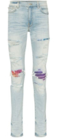 Light Rainbow Underpatch Light Wash Jeans