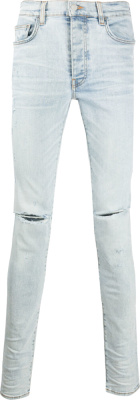 Amiri Light Wash Slash Jeans