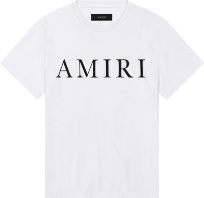 Amiri Logo Print White T Shirt