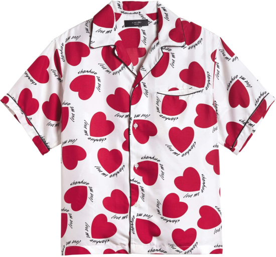 Amiri Love Me Anyways Heart Print Shirt