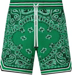 Amiri Men Green Bandana Print Shorts