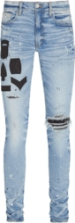 Amiri Military Patch Paint Splatter Jeans
