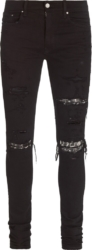 Amiri Muisc Note Underpatch Black Jeans