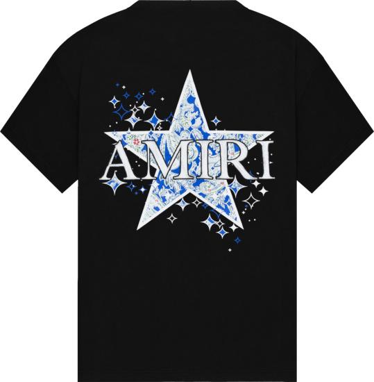 Amiri Paisley Star T Shirt