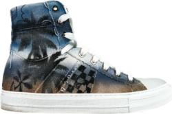 Amiri Palm Tree Print High Top Sneakers