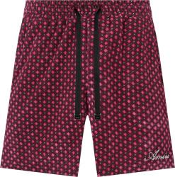 Amiri Pink And Black Diamon Velour Shorts