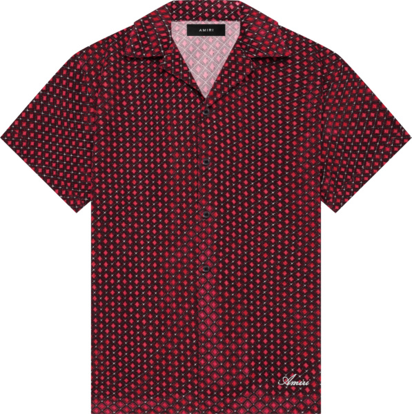Amiri Pink Diamond Retro Velour Shirt