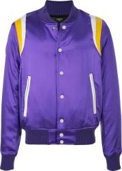 Amiri Purple And Yellow Teddy Jacket
