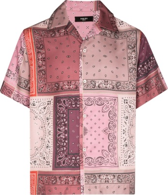 Amiri Purple Bandand Print Shirt