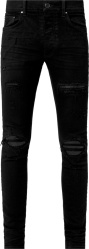 Quilted Underpatch Black 'Animation' Jeans