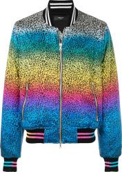 Rainbow Leopard Bomber Jacket