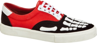 Amiri Red And Black Skeleton Sneakers
