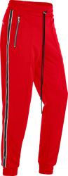 Amiri Red And Leather Stripe Three Star Trackpants