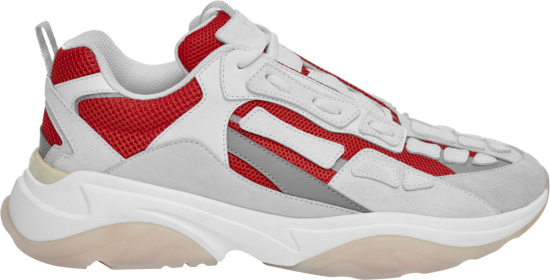 Amiri Red And White Bone Runner Sneakers