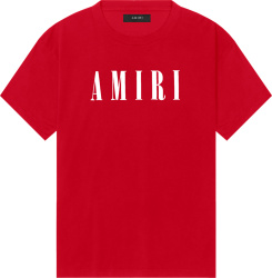 Amiri Red Core Logo T Shirt