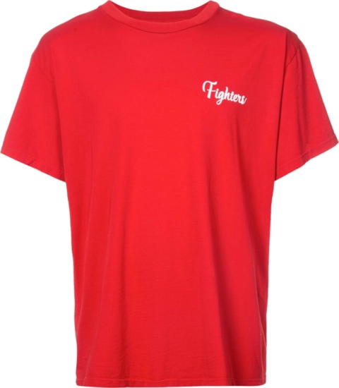 Amiri Red Fighters T Shrit