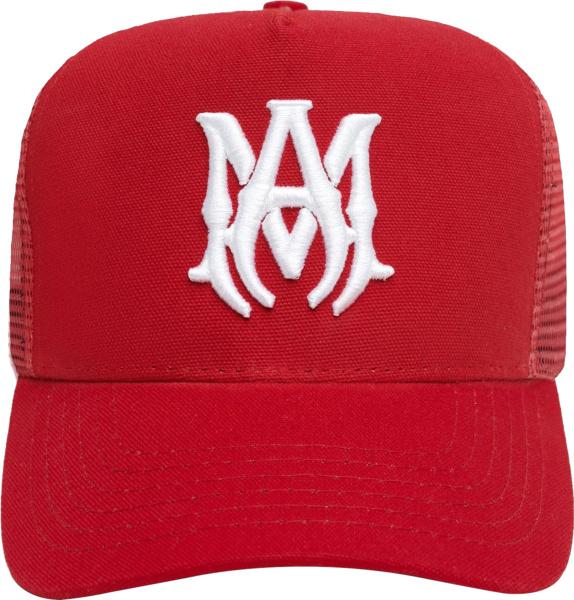 Amiri Red Ma Canvas Hat