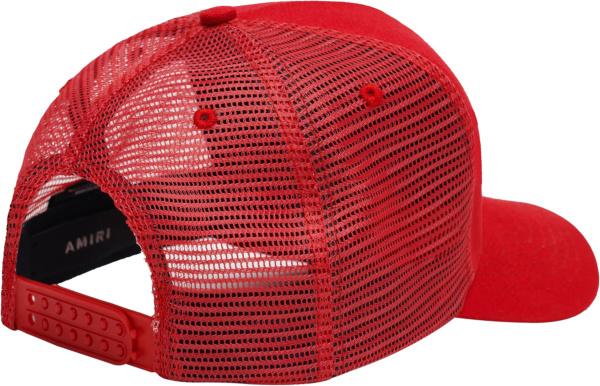 Amiri Red Ma Canvas Trucker Hat