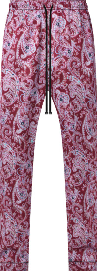 Amiri Red Paisley Pajama Pants