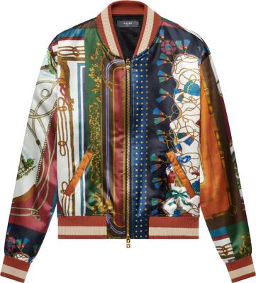 Amiri Scarf Patchwork Bomber Jacket