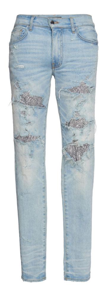 Amiri Sequin Zebra Underpatch Jeans