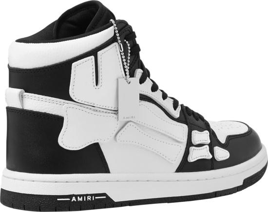 Amiri Skeleton High Top Sneakers Black